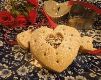 Valentine Arrow Heart Shaped Cookies, Heart Sugar Cookies, Jam Filled Valentine Cookies for Her, Him, Teachers