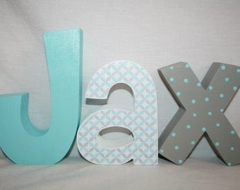 hanging nursery letters 3 letter set set wooden letters for nursery nursery letters wood letters baby name letters blue custom name letters
