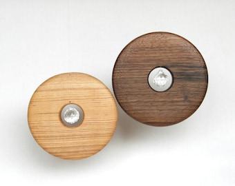 Wood and Crystal Suncatcher - Home Decor - Rainbow- Circle wooden ornament