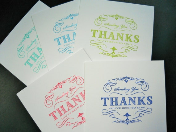 Thank You Notecard Set of 5