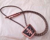 vintage copper bola tie