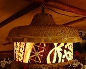 Tapa cloth lamp RESERVED FOR C. Lee
