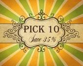Lily Bird Studio Pick 10 pdf sewing patterns and tutorial - Save 35% - bundle savings