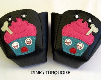 BLACK skate toe guards with Zombie Cupcakes