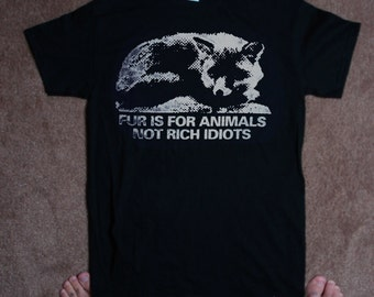 Fur is for animals TSHIRT let idiots know they are idiots in shirt form