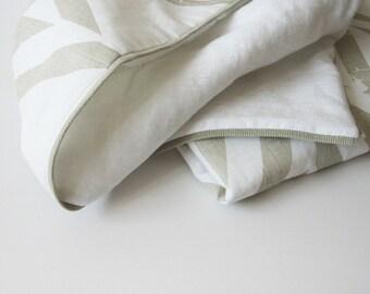 Printed children blanket, baby blanket, toddler blanket, linen crib blanket, baby quilt, baby blanket wool, baby blanket cotton, zigzag