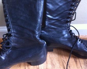 Antique leather boots Switzerland steampunk