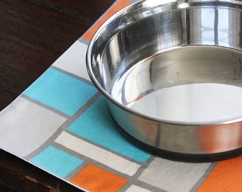 Pet Placemat in Rectangles - Choose Size and Color