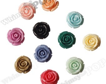 Large MIXED Color Rose Beads, Flower Beads, 21mm Flower Beads, Drilled Flowers (R7-073/079)