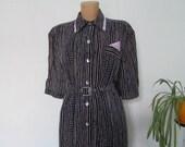 Big Dress Vintage / Long / Large / Size EUR50 / UK22 / Lining