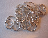 Silver Twisted Jump Rings 10mm QTY - 20