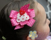 Boutique Cupcake Hair Bow - Meet Cuppiecake