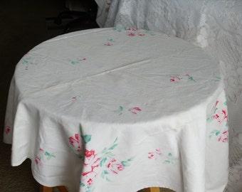 Small White Cotton Table Cloth