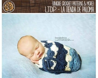 INSTANT DOWNLOAD - Crochet Baby Cocoon Pattern - Baby Cocoon Pattern - Photoprop crochet pattern
