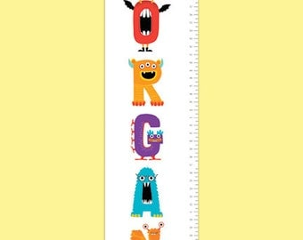 Personalized Monsterrific Growth Chart