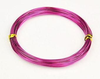 Aluminum Wire Fuschia Red Violet Purple .8mm 10 meters (10.93 yards)