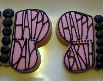 Happy Birthday Butterfly Cookies 2 dozen