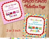 VALENTINE TRAIN favor tags - YOU print - 3, 2.5 or 2 inch