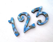 Three Mosaic Numbers, 5 Inch House Numbers, Set of 3 Numbers, House Address, Mosaic Home Decor, Gift for Women