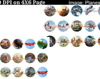 Buy ONE get FOUR FREE Planes Cartoon Movie 30 1 Inch Bottlecap Images 4x6 Sheet