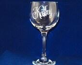 Personalized all purpose 10oz Wine glasses