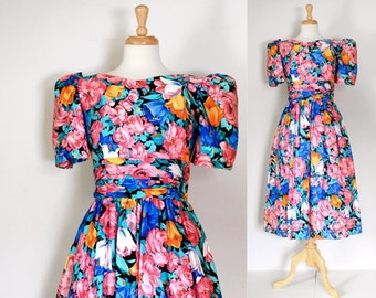 80s Lanz Originals Cotton Chintz Dress