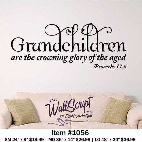 Grandchildren Home Wall Decal Picture Wall Decal Bible Verse