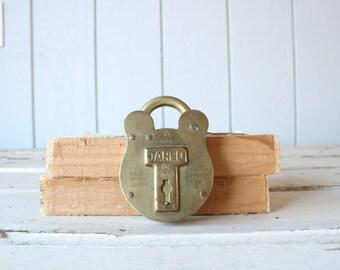 Vintage Brass Lock // Solid Brass