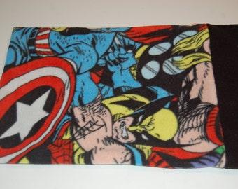 Handmade Travel Pillow Pillowcase--Avenger Fleece