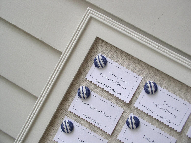 Framed Wedding Seating Chart Reception Escort Card Display