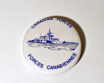Pinback Button Vintage Canadian Forces Pin Button 1980's