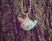 Ice Cream Narwhal • Necklace/Keychain/Phone Charm/Earrings