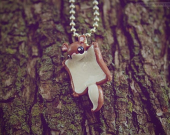 Flying Squirrel • Necklace/Keychain/Phone Charm/Earrings