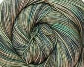 sw merino nylon high twist sock yarn EURYDICE hand dyed fingering weight 3.5oz 400 yards