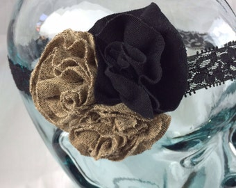 Triple Ruffled Flower Headband