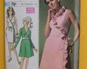 Misses Front Wrap Dress Designer Fashion Simplicity 7715