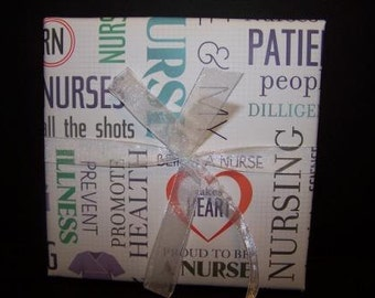 Nursing 6.5x6.5 Expandable Scrapbook