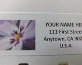 Purple Flower  Return Address Label