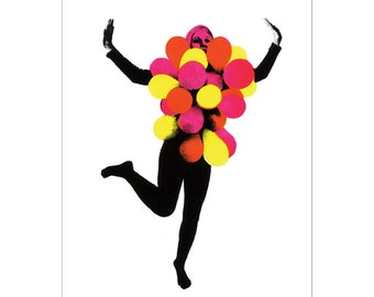 Balloons! - A Colourful Art Print from Original Screen-printed Artwork // Part of the OPEN Exhibition //