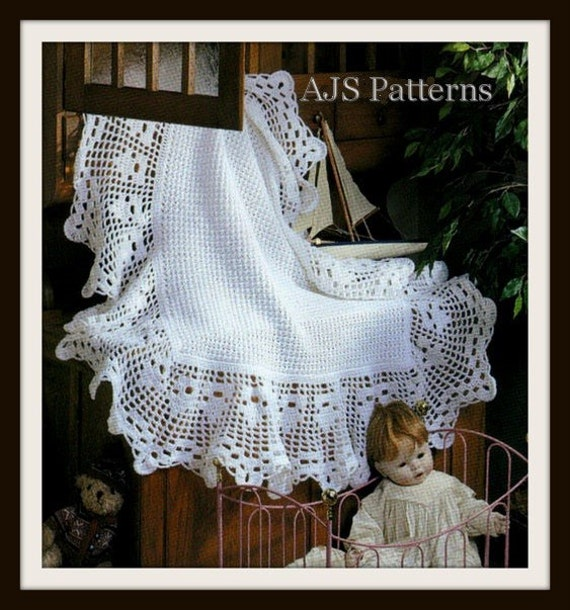 PDF Crochet Pattern for Beautiful Baby Shawl Instant