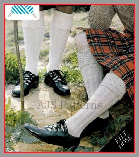 Free Knitting Pattern For Kilt Socks : PDF Knitting Pattern For Scottish Kilt Socks/Hose With a