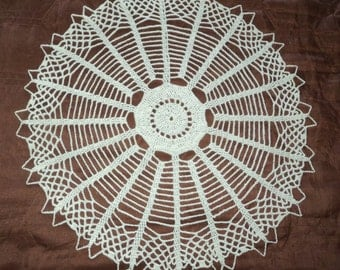 Doily Handmade Crochet Ecru, Tabletop decoration