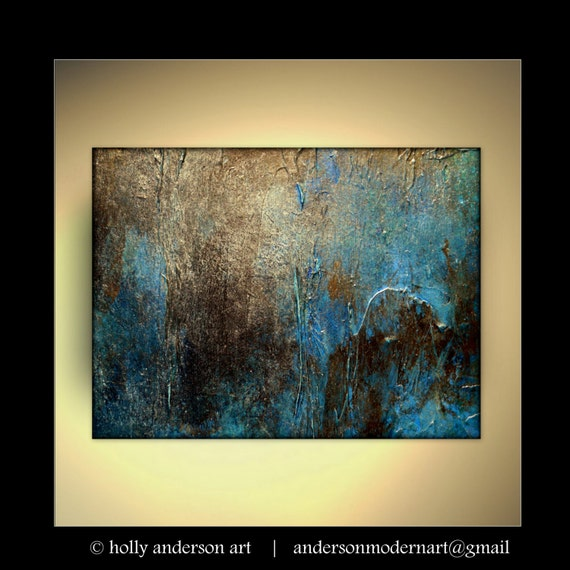 """Large Wall Art,Painting, Metal Print of Original Abstract Painting by Holly Anderson OXIDIZED 36"""""""