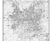 Las Vagas City Map -  Vintage Print Poster