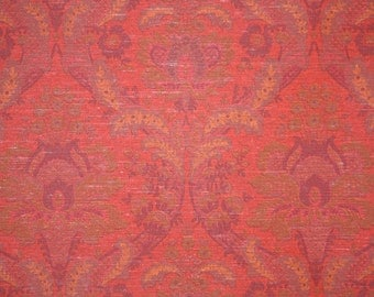 Retro Wallpaper by the Yard 70s Vintage Wallpaper - 1970s Red Damask