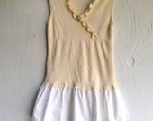 summer sweet pale soft wildflower yellow ann taylor sleeveless eco vintage button lace prairie girl top