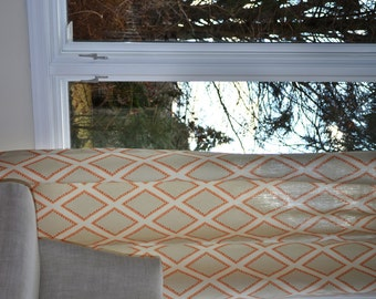 Custom Curtains, 50 x 84 inches, any size available,  Kravet Brookhaven in Coral