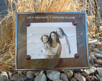 "Original ""Etched in Metal"" 8x10 Photo Frame"