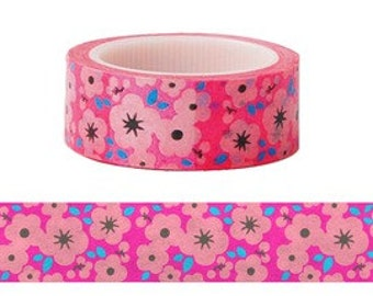 Neon Flower Washi Tape (6M)