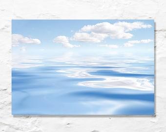 baby blue sea sky nursery art fine art photograph ocean waves fluffy clouds